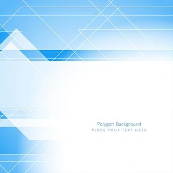 Elegante blaue farbe abstrakt polygonal hintergrund design