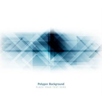 Elegante blaue farbe polygon hintergrund design
