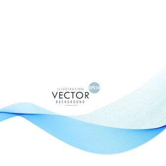 Elegante blaue glatte welle vektor baclground