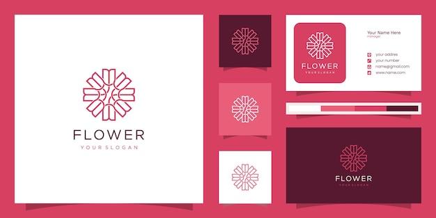 Elegante blume rose luxus schönheitssalon, mode, hautpflege, kosmetik, yoga und spa-produkte