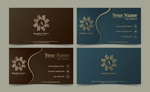 Elegante blumen visitenkarte set vorlage