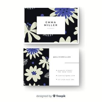 Elegante blumengeschäftskarte