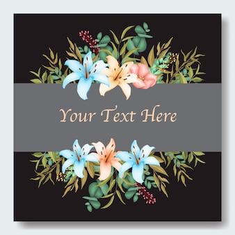 Elegante blumenhochzeitseinladungskarte