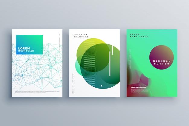 Elegante cover-seite design-vorlage in minimalem stil