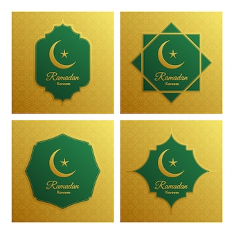 Elegante dekorative festivalkarte ramadan kareem.