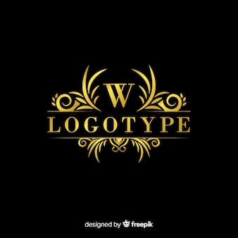 Elegante dekorative logoschablone