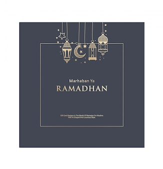 Elegante design-geschenkkarte ramadhan