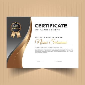 Elegante designvorlage für zertifikatsdiplome