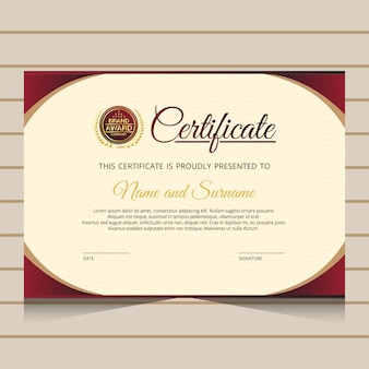 Elegante diplom zertifikatvorlage