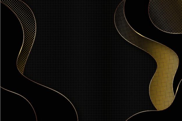 Elegante dunkle tapete mit goldenen details