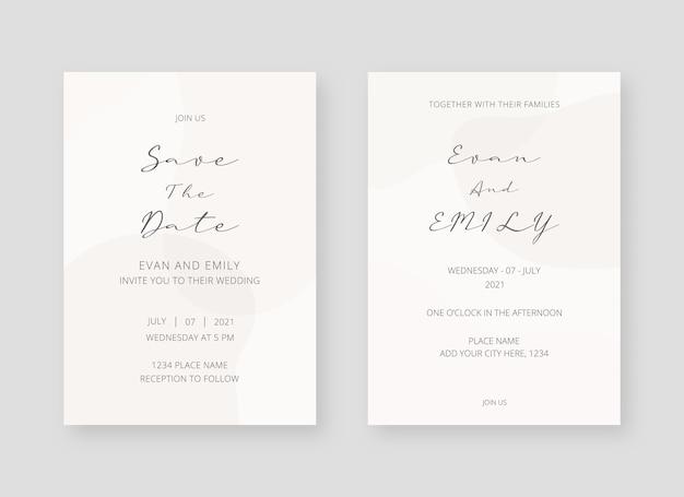 Elegante einladungskartensammlung