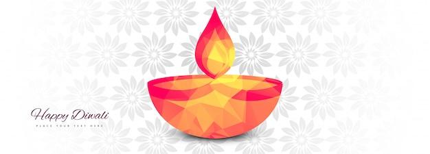 Elegante fahnenillustration für indische festival diwali feier