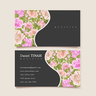 Elegante florale visitenkarte
