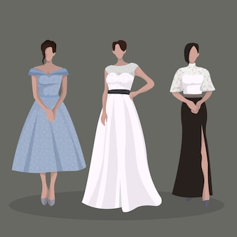 Elegante frau partykleid outfits