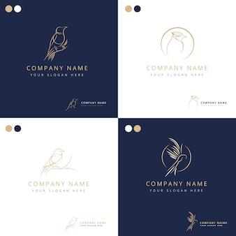 Elegante freistilvogel-logosammlung