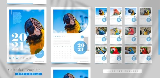Elegante frohes neues jahr-kalendervorlage