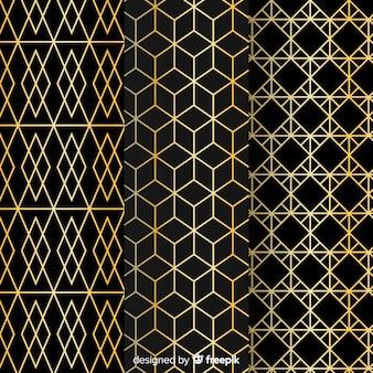 Elegante geometrische mustersammlung