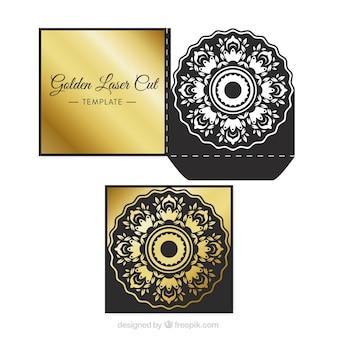 Elegante goldene laserschnittschablone