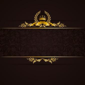 Elegante goldene rahmenfahne