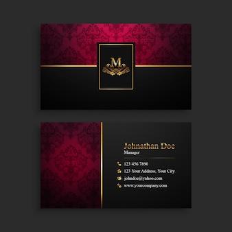 Elegante goldene & rote visitenkarte