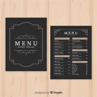Elegante gourmet-restaurant-menüvorlage