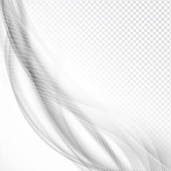 Elegante graue welle design auf transparentem hintergrund