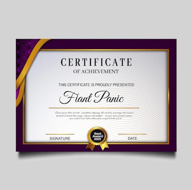 Elegante grüne zertifikatleistungsvorlage