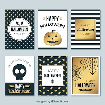 Elegante halloween-kartenpackung