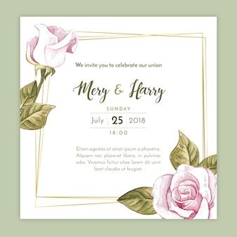 Elegante Hochzeitseinladung