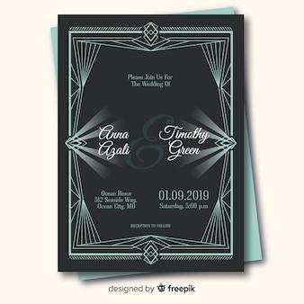 Elegante hochzeitseinladungskartenschablone