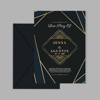 Elegante hochzeitseinladungskartenvorlage