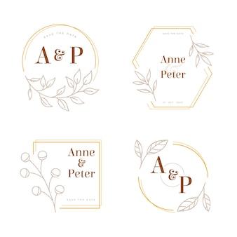 Elegante hochzeitsmonogramme logos