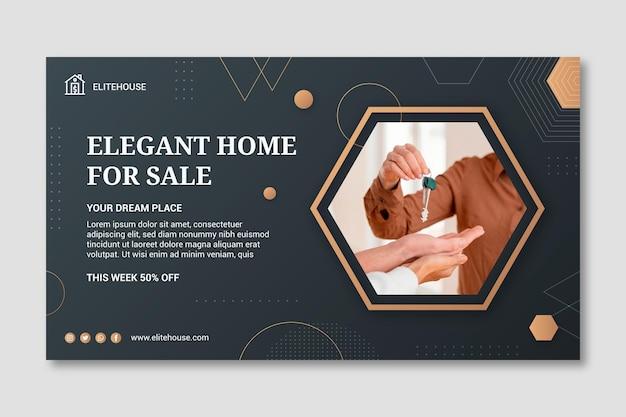Elegante home-banner-vorlage für immobilien