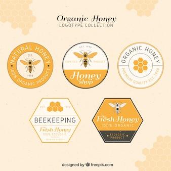 Elegante honig logos