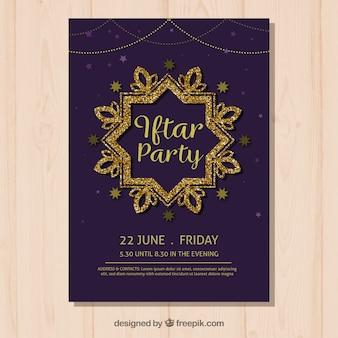 Elegante iftar party einladung