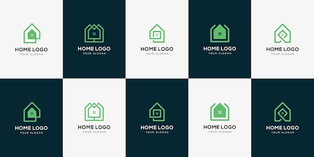 Elegante immobilien-logo-sammlung