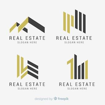 Elegante immobilienlogosammlung