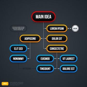 Elegante infografik scheme
