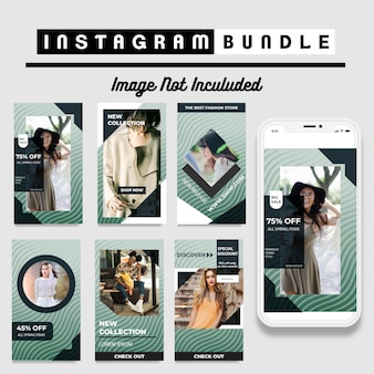 Elegante instagram-fashion-story-vorlage