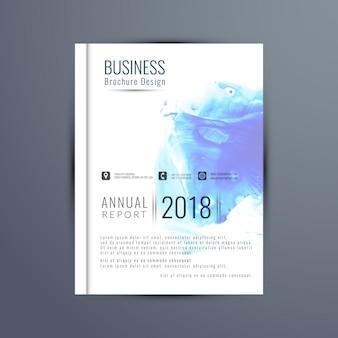 Elegante jahresbericht broschüre design