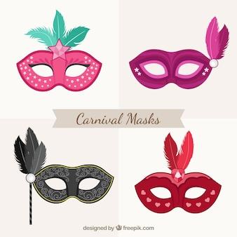 Elegante karnevalsmasken