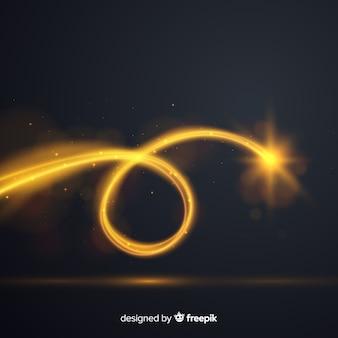 Elegante komposition mit lichtstrahlen