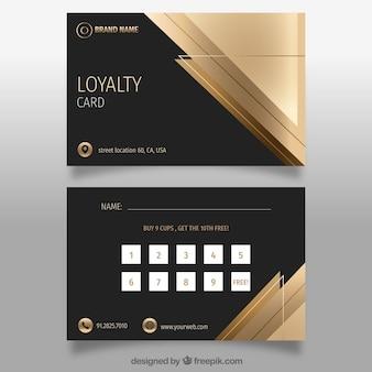 Elegante kundenkartenvorlage mit goldenem design