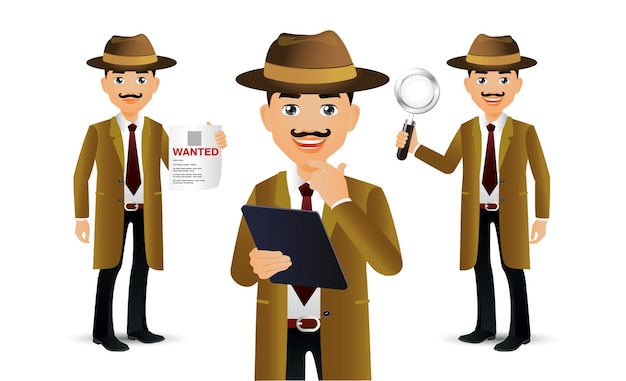 Elegante leute. professional.detective
