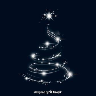 Elegante lichter in weihnachtsbaumform