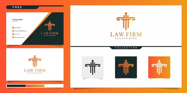 Elegante logo-vorlage für anwaltskanzleien