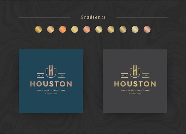 Elegante logo-vorlage für luxusmarken.