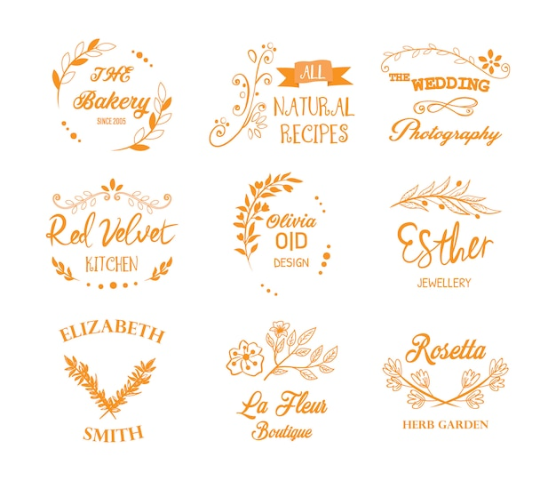 Elegante logotype-kollektion