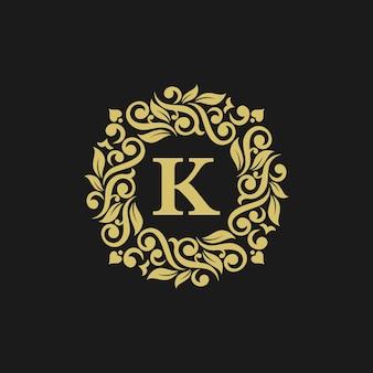 Elegante luxus-logo-schablonenillustration
