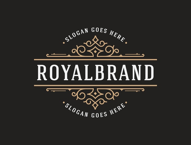 Elegante luxus-logo-vorlage